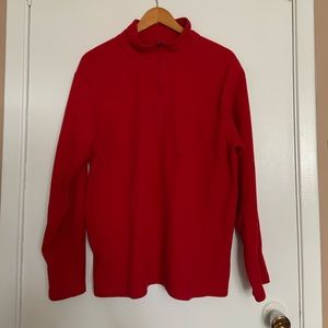 L.L. Bean fleece Half zip sweater/jacket size L